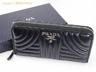 ea1b50a6dffd プラダ 【PRADA/プラダ】長財布 1ML506 2BOX 002 ブラック キルティング ラウンドファスナー 18AW