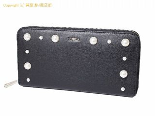 e9ba01321ee4 【FURLA/フルラ】PZ84 F82 060 長財布 ブラック ラウンドファスナー 18AW新作 レセット